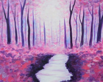 Pink Landscape Fine Art PRINT of Original Painting