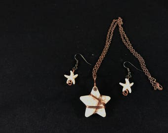 Starfish Necklace and Earring Set
