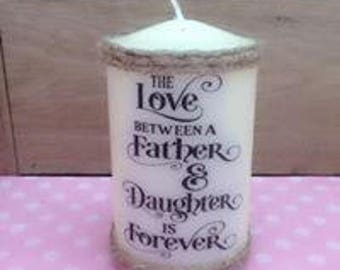 candle father and daughter