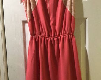 Size small coral dress