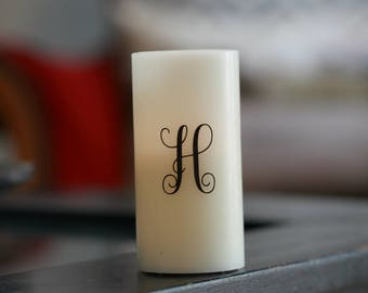 Personalized Flameless Real Wax LED Pillar Candle