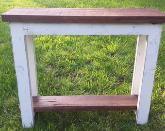 Simply Rustic Barnwood Console Table