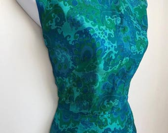 VINTAGE Classic 1960's Silk Top