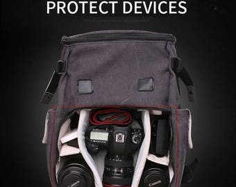 VINTAGE STYLE Hot camera bag - Protect your camera and accessories - Backpack