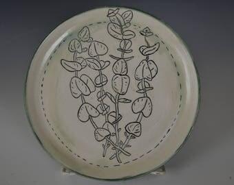 Eucalyptus Porcelain Plate
