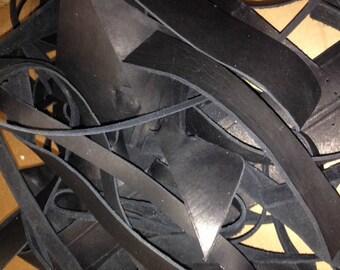 5lbs Leather Scraps - Black