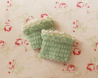 crochet cuff pattern gloves wristwarmer pdf tutorial