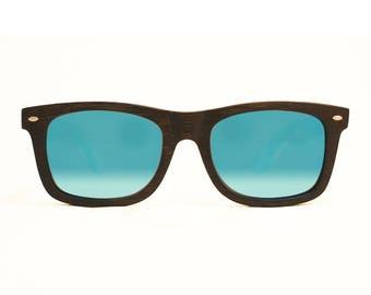 "Wooden sunglasses | Wayfarer sunglasses | Model ""BONIFACIO"" bamboo | Category 3 standards UV400 polarized lenses"