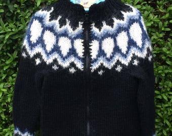 Icelandic wool sweater, Lopapeysa, Handmade, size 104, 3 y