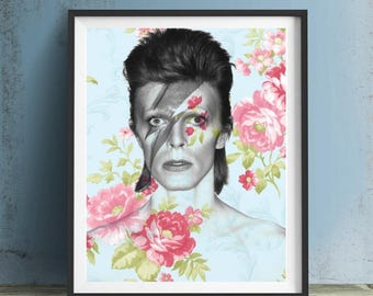 David Bowie Art Print or Canvas, Wall Art, Artwork, Gift