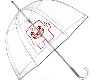 SUPER MEAT BOY game fan Umbrella- Super Meat Boy Inspired Umbrella- Super Meat Boy Gift