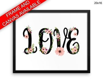 Love Grows Wall Art Framed Love Grows Canvas Print Love Grows Framed Wall Art Love Grows Poster Love Grows Home Art Love Grows Home Print