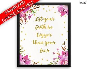 Fear Wall Art Framed Faith Canvas Print Fear Framed Wall Art Faith Poster Fear Encouraging Art Faith Encouraging Print Fear Faith