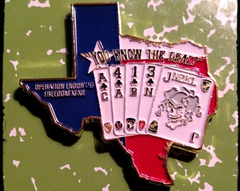 Texas Poker Military Forces Colorized Challenge Art Coin