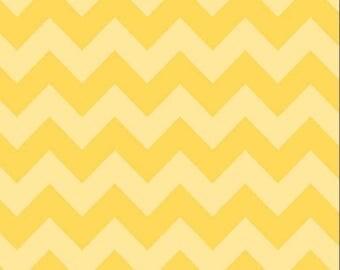 Chevron YellowTone on Tone Medium Cotton Fabric - Riley Blake Fabrics - Perfect for Nursery, Clothing, and Quilts