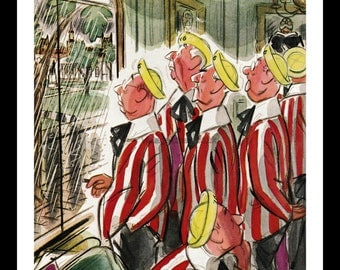 """The New Yorker - June 6, 1953, Illustrated by Leonard Dove ,Class of 1916 """"Rained In."""""""