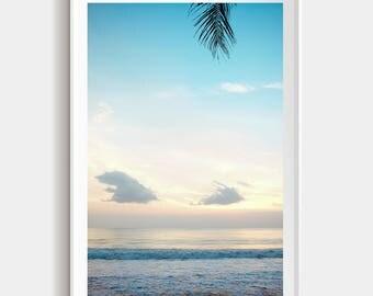 Sunset Vibes // Bali beach print // Sunset in Bali // Large beach print // Home Decor Photography print original