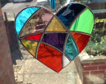 Gorgeous stained glass heart