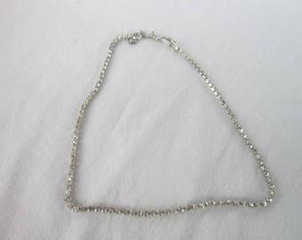 Vintage Deco Style White Rhinestone Necklace