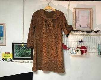 Mini soft brown dress