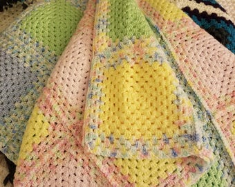 Baby Blanket -Granny Square Quilt