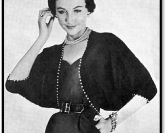 Pearl Pal Shrug Pattern, Crochet Pattern, Vintage Pattern, Retro