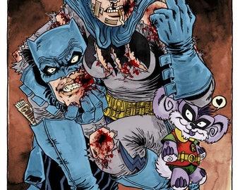 Dark Knight limited edition Giclée art print - Rufus Dayglo