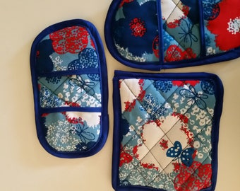 quilted pot holders and placemats