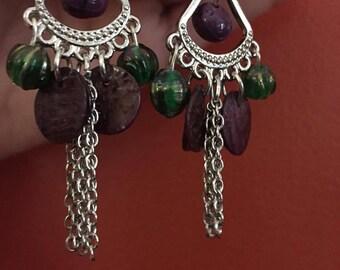 modern stone wear earrings