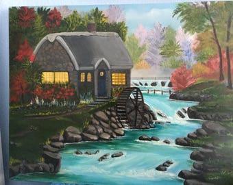 Water wheel painting