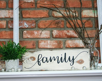Family Wood Sign, Custom Wood Sign, Rustic Sign, Home Decor