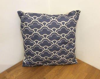 Stylish Blue Patterned Cushion