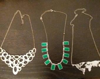 enamel necklaces x2 more