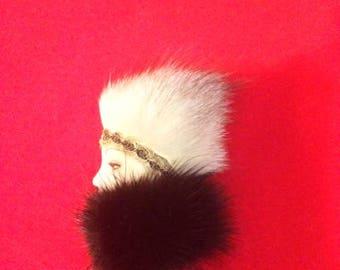 Vintage Lady Head Brooch