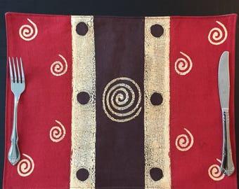 African Placemat, African Placemat, Zimbabwe Batik, Fairtrade Placemat