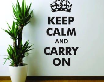 Keep Calm wall decal