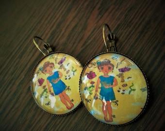 """""""Miss Shopping"""" earrings"""
