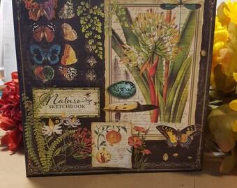 Natures Sketchbook Mini Album