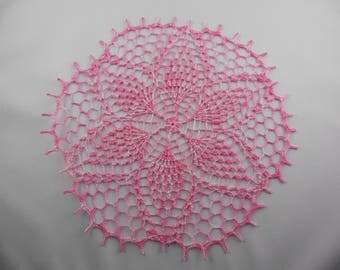 "Round crochet doily ""Alix"""