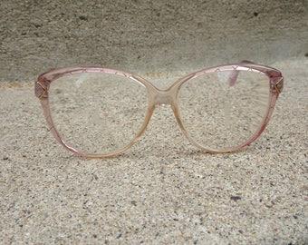 Vintage Safilo Elasta Potfolio 317 64 Oversize Pink Cotton Candy Eyeglass Frames   Hippy Glasses   Vintage Sunglasses   Hipster Glasses