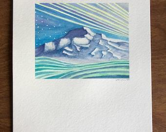 Denali Alaska Watercolor Painting