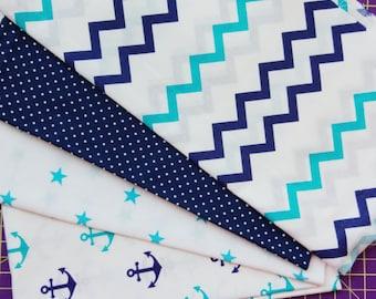 Cotton fabric,sewing fabrics,fabrics cut,stars print fabric,ocean fabrics,nautical fabrics,beach fabrics,sea fabrics,anchors fabric