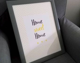 Home sweet home design poster