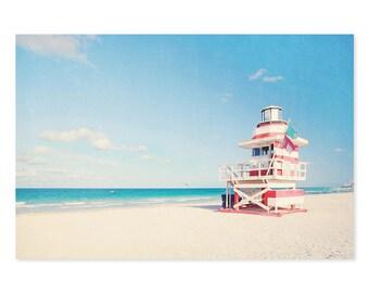 Lifeguard Stand Photo, Vintage Beach, Tropical Print, Venice beach print, Beach Wall Art, Vintage Wall Decor, Juicy Wall Decor, Modern Art