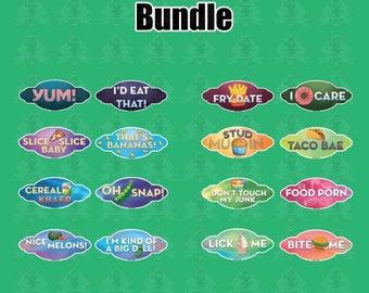 Food Bundle | 16 Sign (8 Pieces)