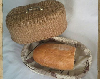 Basket for bread. Weaving Paper vines.Handmade.Basket, casket, food container, decoration for the kitchen