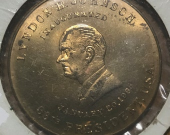 1965 Lyndon B Johnson Inaugural Token 36th President of United States