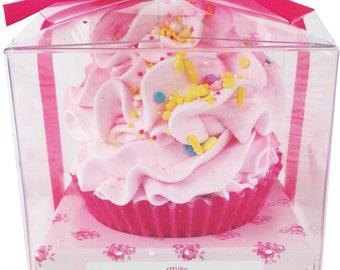 Large Pink Bliss Cupcake Bath Bomb