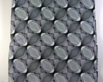 Karen Combs Cotton Fabric Black & White Optical Illusion Blank Textiles #3801 2 Yards