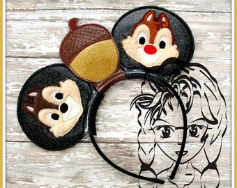 CHiPMUNKS FuNNY & CLeVER Inspired (3 Piece) Mr Miss Mouse Ears Headband ~ In the Hoop ~ Downloadable DiGiTaL Machine Emb Design by Carrie